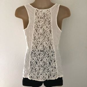 Lacy back tank top